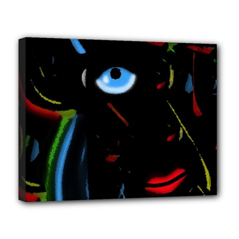 Black magic woman Canvas 14  x 11