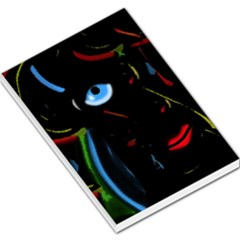Black magic woman Large Memo Pads