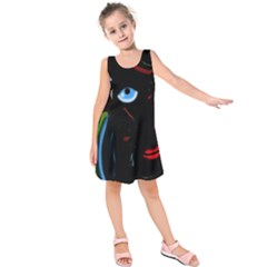 Black magic woman Kids  Sleeveless Dress