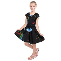 Black magic woman Kids  Short Sleeve Dress