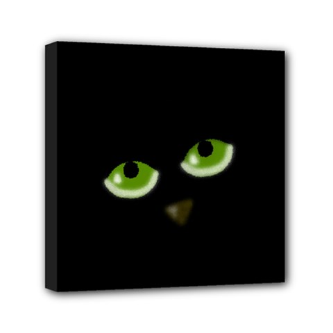 Halloween - back cat Mini Canvas 6  x 6