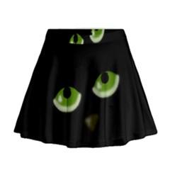 Halloween - back cat Mini Flare Skirt