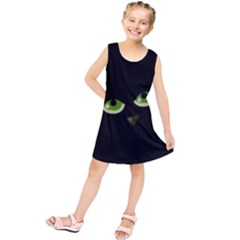 Halloween - back cat Kids  Tunic Dress