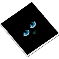 Halloween - black cat - blue eyes Small Memo Pads