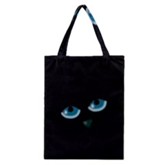 Halloween - black cat - blue eyes Classic Tote Bag