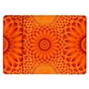 Lotus Fractal Flower Orange Yellow Samsung Galaxy Tab 10.1  P7500 Flip Case View1