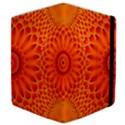 Lotus Fractal Flower Orange Yellow Samsung Galaxy Tab 10.1  P7500 Flip Case View4