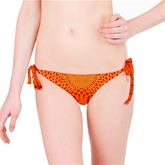 Lotus Fractal Flower Orange Yellow Bikini Bottom