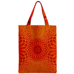Lotus Fractal Flower Orange Yellow Classic Tote Bag