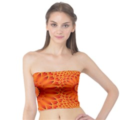 Lotus Fractal Flower Orange Yellow Tube Top