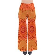 Lotus Fractal Flower Orange Yellow Pants
