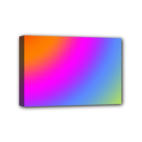 Radial Gradients Red Orange Pink Blue Green Mini Canvas 6  X 4