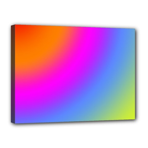 Radial Gradients Red Orange Pink Blue Green Canvas 16  X 12