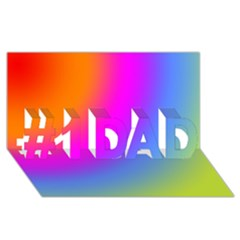 Radial Gradients Red Orange Pink Blue Green #1 Dad 3d Greeting Card (8x4)