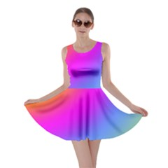 Radial Gradients Red Orange Pink Blue Green Skater Dress