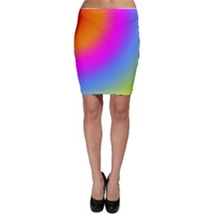 Radial Gradients Red Orange Pink Blue Green Bodycon Skirt