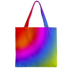 Radial Gradients Red Orange Pink Blue Green Grocery Tote Bag