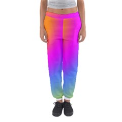 Radial Gradients Red Orange Pink Blue Green Women s Jogger Sweatpants