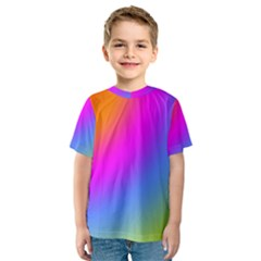 Radial Gradients Red Orange Pink Blue Green Kids  Sport Mesh Tee
