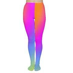 Radial Gradients Red Orange Pink Blue Green Women s Tights