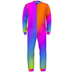 Radial Gradients Red Orange Pink Blue Green Onepiece Jumpsuit (men)