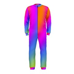 Radial Gradients Red Orange Pink Blue Green Onepiece Jumpsuit (kids)
