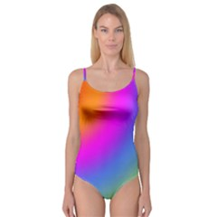Radial Gradients Red Orange Pink Blue Green Camisole Leotard