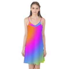Radial Gradients Red Orange Pink Blue Green Camis Nightgown