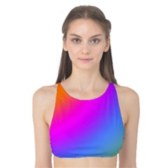 Radial Gradients Red Orange Pink Blue Green Tank Bikini Top