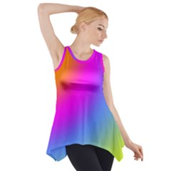 Radial Gradients Red Orange Pink Blue Green Side Drop Tank Tunic