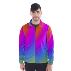 Radial Gradients Red Orange Pink Blue Green Wind Breaker (men)