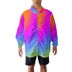 Radial Gradients Red Orange Pink Blue Green Wind Breaker (kids)