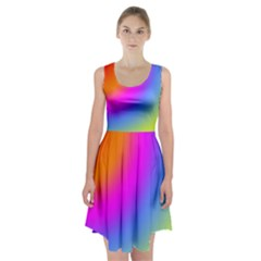Radial Gradients Red Orange Pink Blue Green Racerback Midi Dress