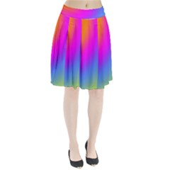 Radial Gradients Red Orange Pink Blue Green Pleated Skirt