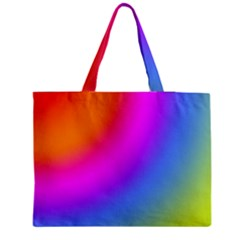Radial Gradients Red Orange Pink Blue Green Medium Zipper Tote Bag
