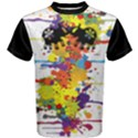 Crazy Multicolored Double Running Splashes Men s Cotton Tee View1