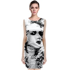 Romantic Dreaming Girl Grunge Black White Classic Sleeveless Midi Dress