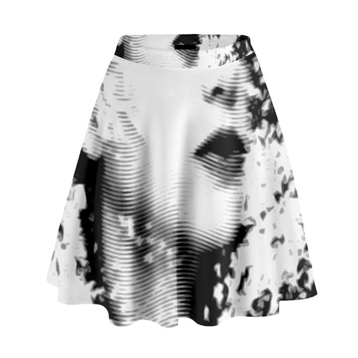 Romantic Dreaming Girl Grunge Black White High Waist Skirt