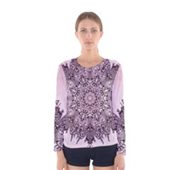 Sacred Mandala   Women s Long Sleeve Tee