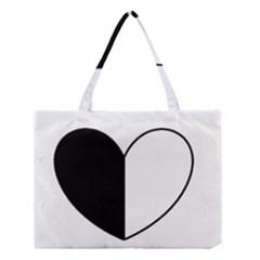YinYangHeart Medium Tote Bag