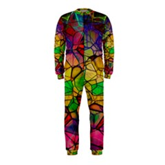 Abstract Squares Triangle Polygon Onepiece Jumpsuit (kids)