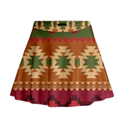 Background Plot Fashion Mini Flare Skirt