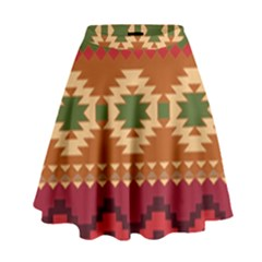 Background Plot Fashion High Waist Skirt