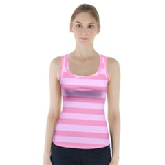 Fabric Baby Pink Shades Pale Racer Back Sports Top