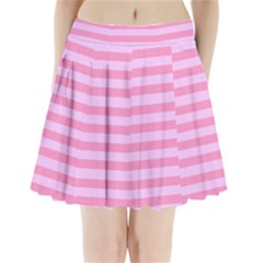 Fabric Baby Pink Shades Pale Pleated Mini Skirt
