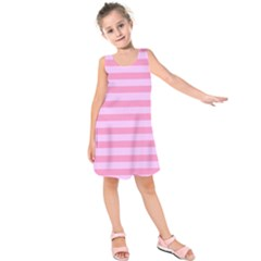 Fabric Baby Pink Shades Pale Kids  Sleeveless Dress