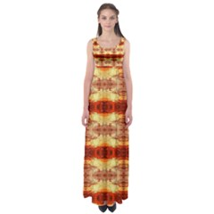 Fabric Design Pattern Color Empire Waist Maxi Dress