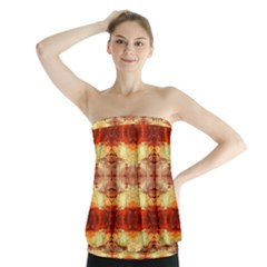 Fabric Design Pattern Color Strapless Top