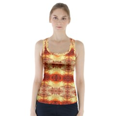 Fabric Design Pattern Color Racer Back Sports Top