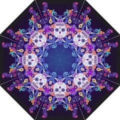 Día De Los Muertos Skull Ornaments Multicolored Straight Umbrellas